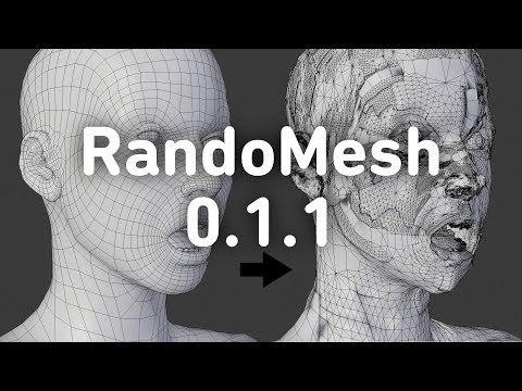 RandoMesh 0.1.1 [Blender Add-on]