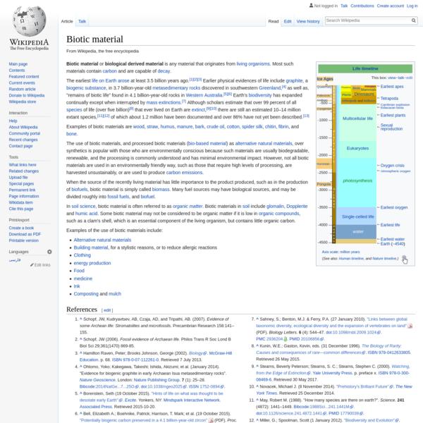 Biotic material - Wikipedia