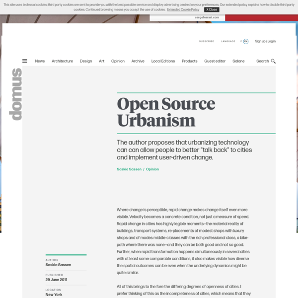 Open Source Urbanism