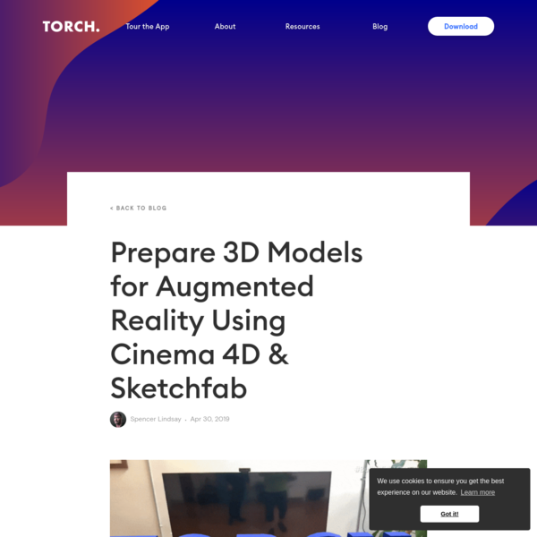 Prepare 3D Models for Augmented Reality Using Cinema 4D & Sketchfab