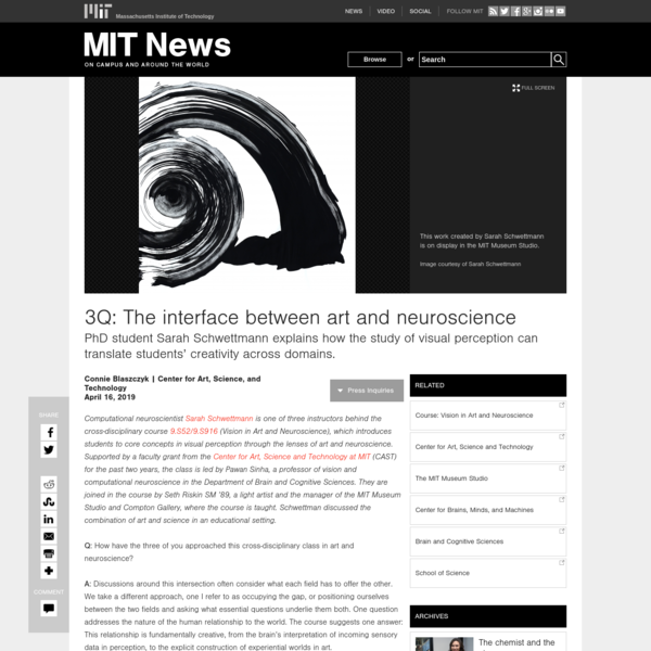 3Q: The interface between art and neuroscience