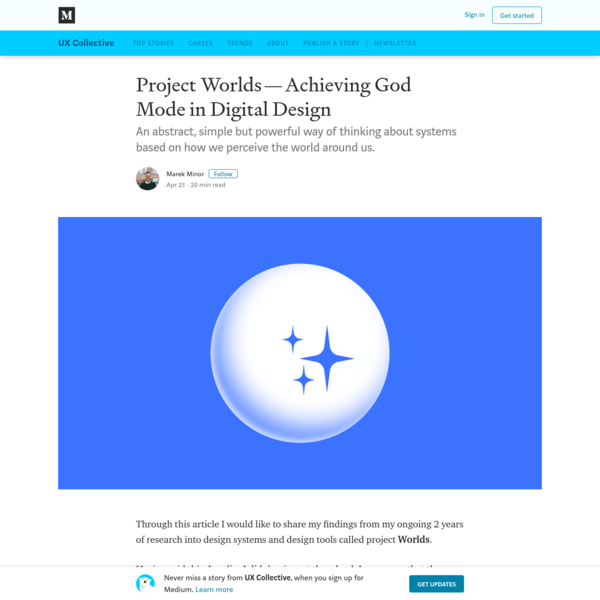 Project Worlds-Achieving God Mode in Digital Design