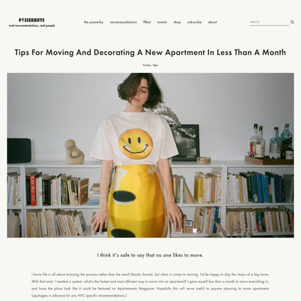 Tips for Moving and Decorating a new Apartment in Less Than A Month