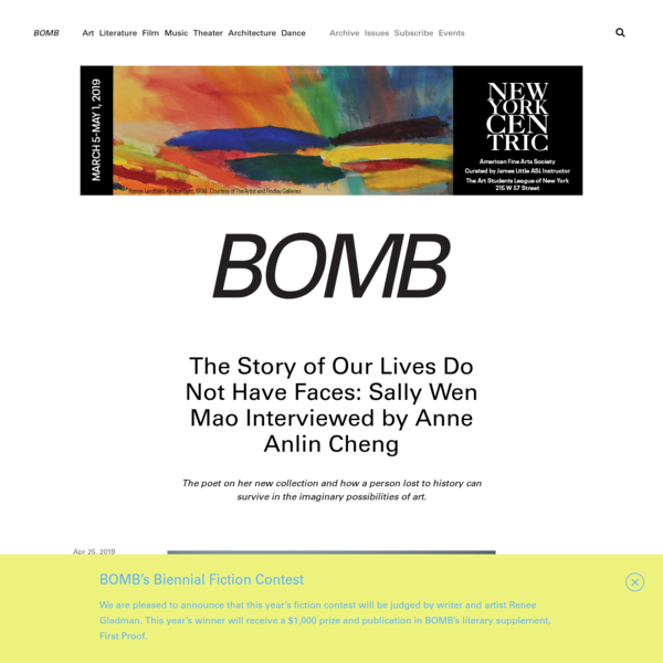 The Story of Our Lives Do Not Have Faces: Sally Wen Mao Interviewed by Anne Anlin Cheng - BOMB Magazine