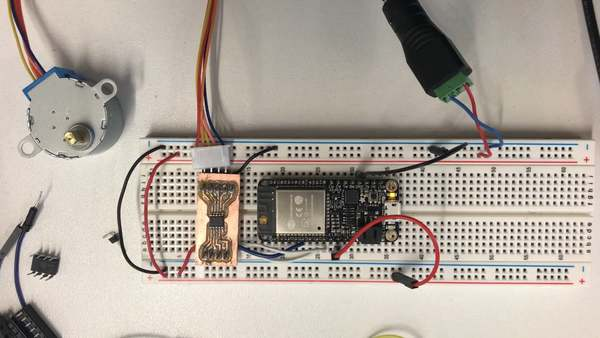 """This is """"Stepper + Breakout Board Test"""" by Hannah on Vimeo, the home for high quality videos and the people who love them."""