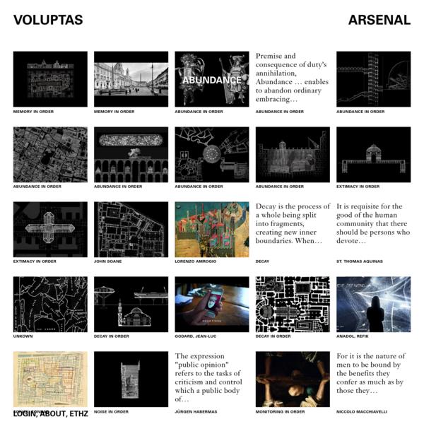 VOLUPTAS · ARSENAL