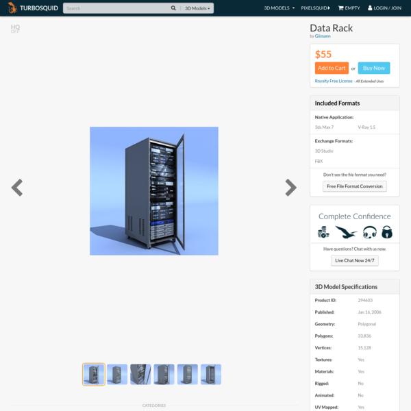 data rack servers 3d model