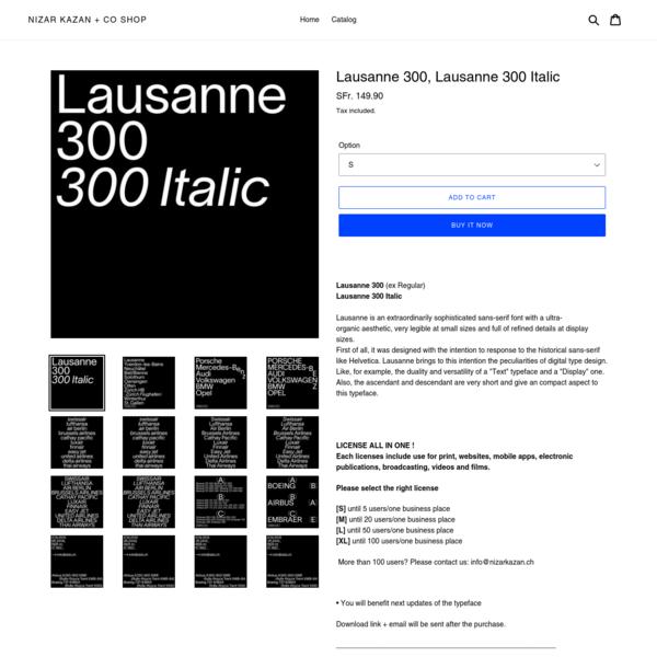 Are na / Lausanne 300, Lausanne 300 Italic
