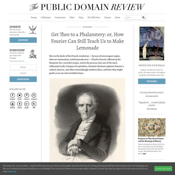Get Thee to a Phalanstery: or, How Fourier Can Still Teach Us to Make Lemonade