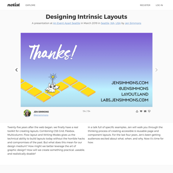 Designing Intrinsic Layouts by Jen Simmons