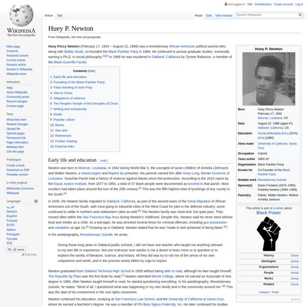 Huey P. Newton - Wikipedia