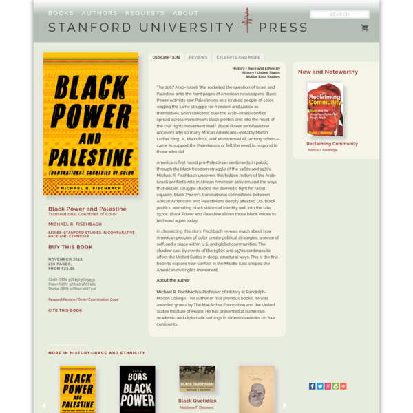 Black Power and Palestine: Transnational Countries of Color   Michael R. Fischbach
