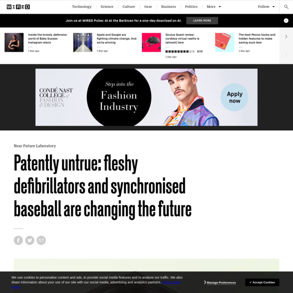 Patently untrue: fleshy defibrillators and synchronised baseball are changing the future | WIRED UK