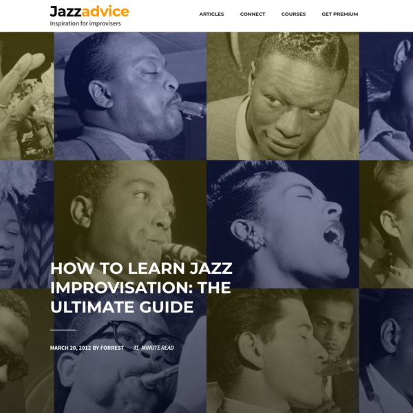 How to Learn Jazz Improvisation: The Ultimate Guide * Jazz Advice