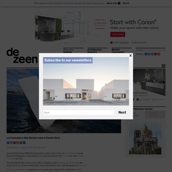 Le Corbusier's Villa Savoye sunk in Danish fjord