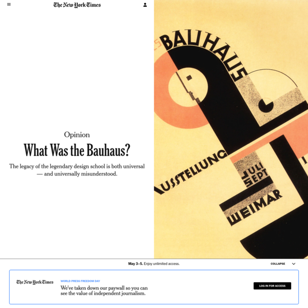 Opinion   What Was the Bauhaus? - The New York Times