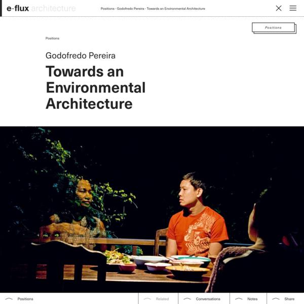 Towards an Environmental Architecture