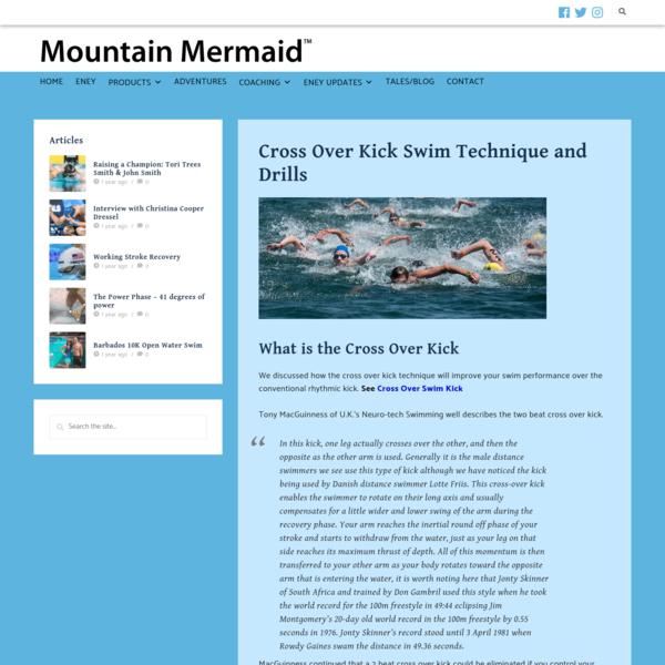 Cross Over Kick Swim Technique and Drills - Eney Jones Mountain Mermaids