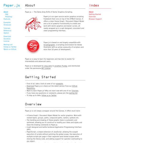 Paper.js - About