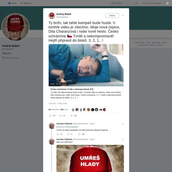 Andrej Babiš on Twitter