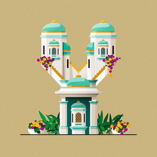 Yaaaii!! We made it to the final temple! #36daysoftype #36days_y #36days_adobe #36daysoftype06 #y #06 #architecture #indiate...