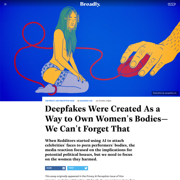 Deepfakes Were Created As a Way to Own Women's Bodies-We Can't Forget That