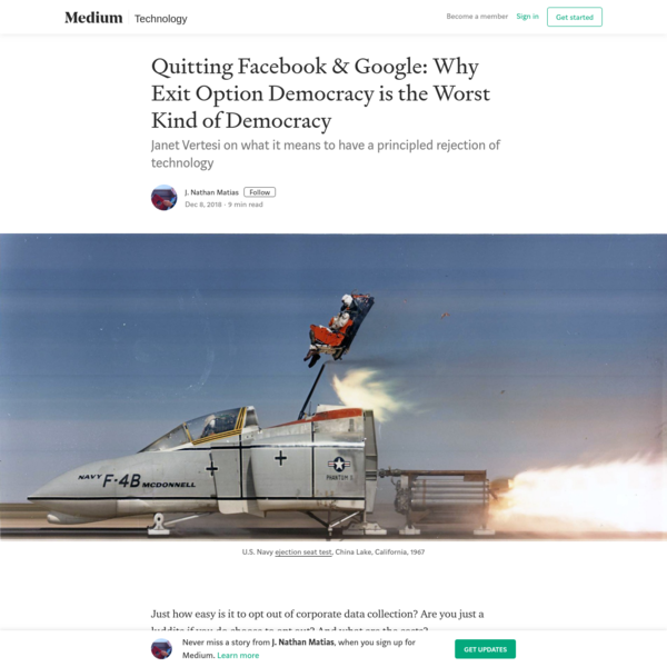 Quitting Facebook & Google: Why Exit Option Democracy is the Worst Kind of Democracy