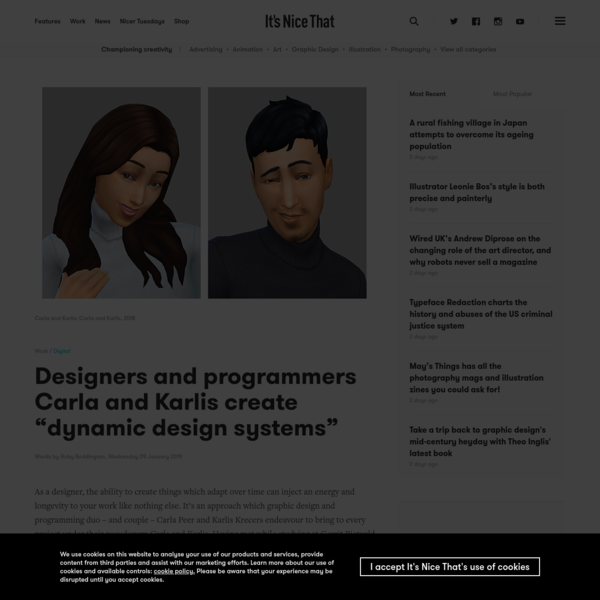"Designers and programmers Carla and Karlis create ""dynamic design systems"""