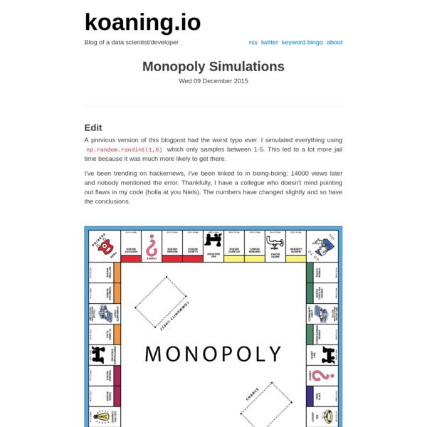 Monopoly Simulations — koaning.io