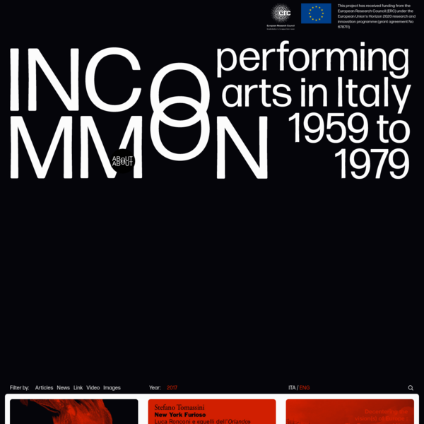 Incommon | Performing arts in Italy 1959 to 1979