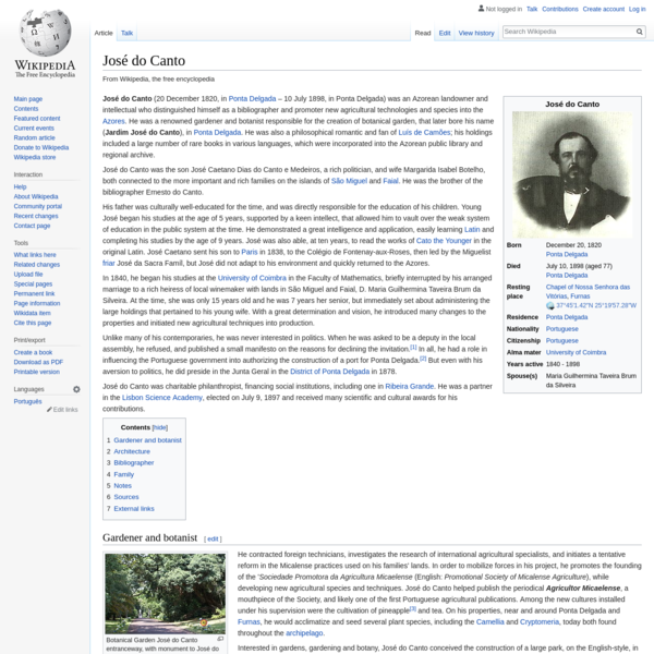 José do Canto - Wikipedia
