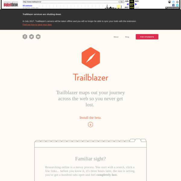 Trailblazer - Never get lost.