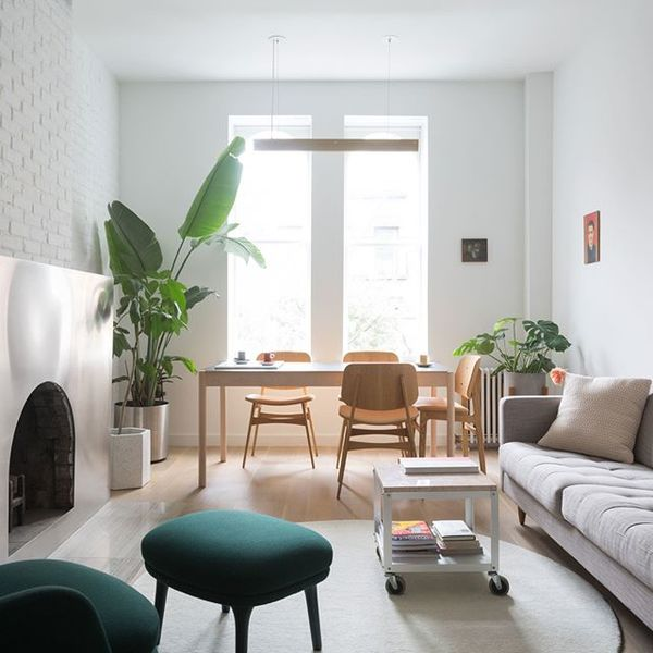 """A stainless steel fireplace surround and """"hacked"""" IKEA cabinets are among the features that architecture duo BoND have added..."""