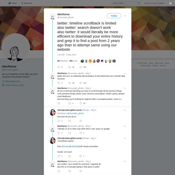 /dev/horse on Twitter