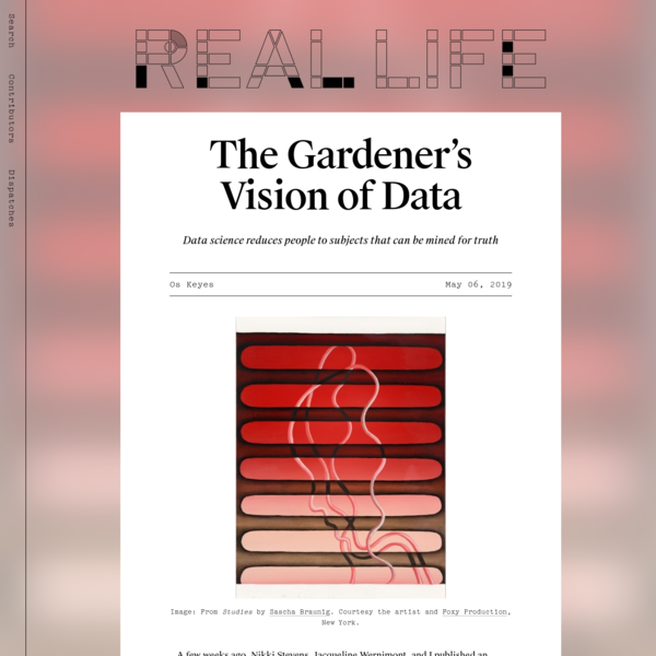 A few weeks ago, Nikki Stevens, Jacqueline Wernimont, and I published an exposé on the use of non-consensually gathered, highly sensitive facial-recognition datasets by the National Institute of Standards and Technology, a part of the U.S. Department of Commerce.