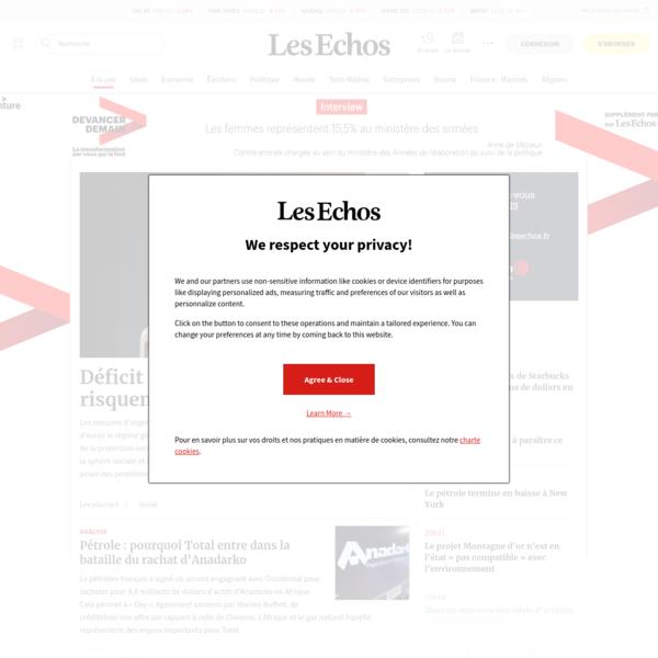 Actualités en direct, Économie, Finance, Politique | Les Echos
