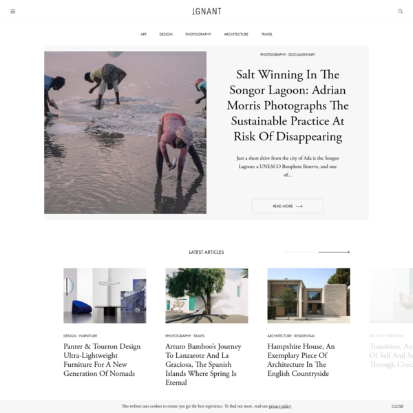 IGNANT - IGNANT is an award-winning online magazine featuring the finest in art, design, photography, travel and architecture