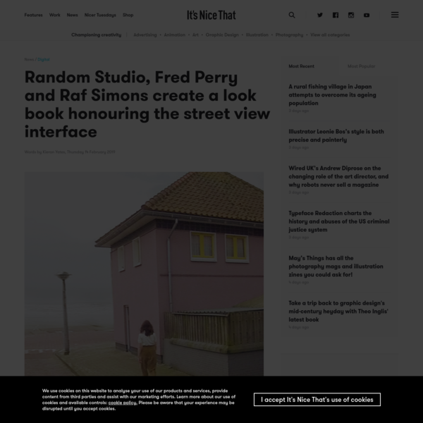 Random Studio, Fred Perry and Raf Simons create a look book honouring the street view interface