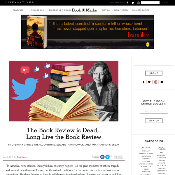 The Book Review is Dead, Long Live the Book Review