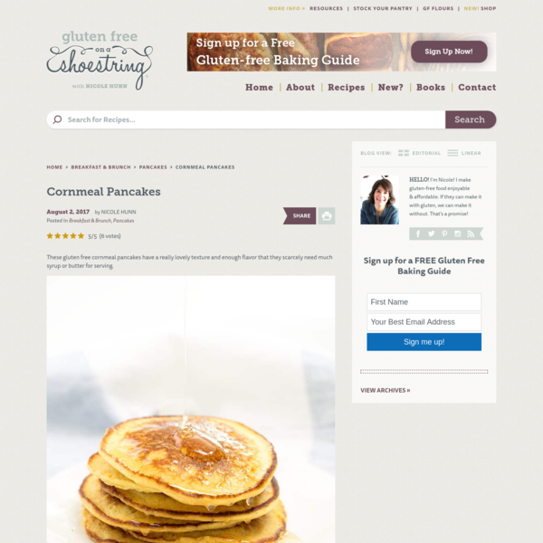 Cornmeal Pancakes | Fluffy, Savory and Slightly Sweet