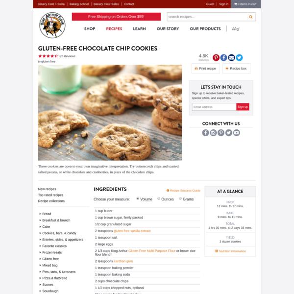 Gluten-Free Chocolate Chip Cookies Recipe | King Arthur Flour