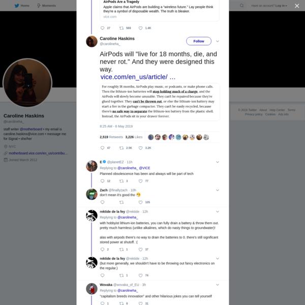 Caroline Haskins on Twitter