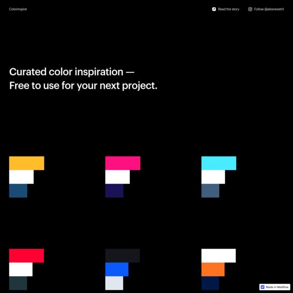 Colorinspire - Curated color inspiration by Ales Nesetril