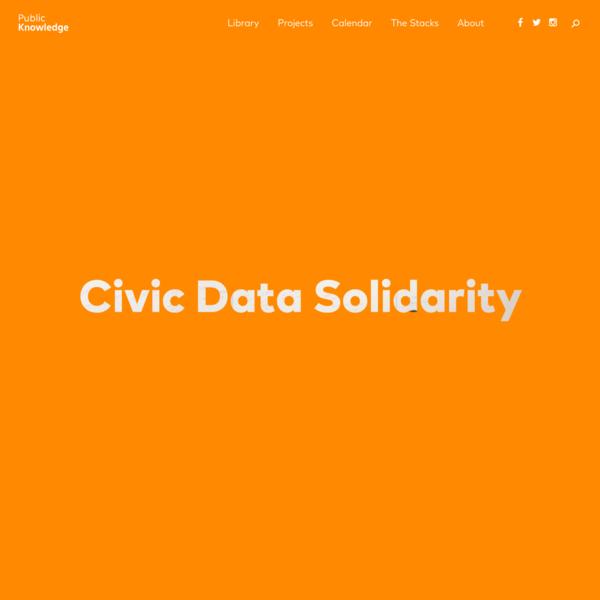 Civic Data Solidarity