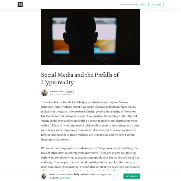 Social Media and the Pitfalls of Hyperreality
