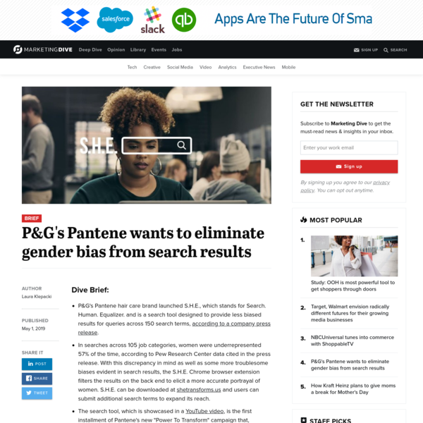 P&G's Pantene wants to eliminate gender bias from search results