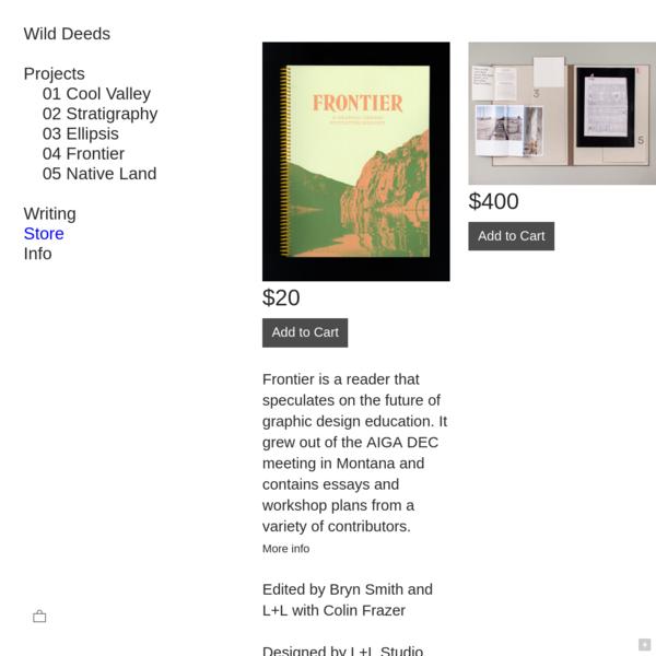 Store - Wild Deeds