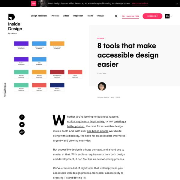 8 tools that make accessible design easier | Inside Design Blog