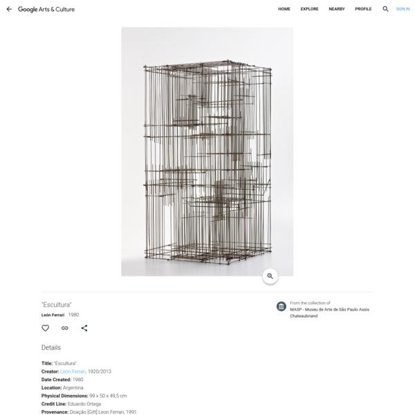 """""""Escultura"""" - León Ferrari — Google Arts & Culture"""