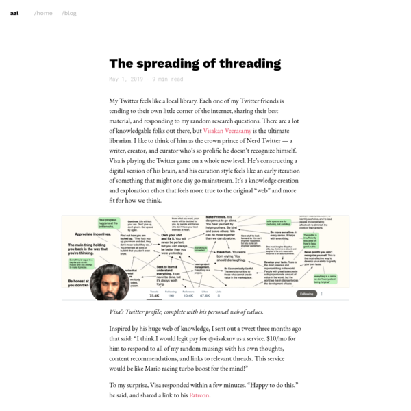 The spreading of threading
